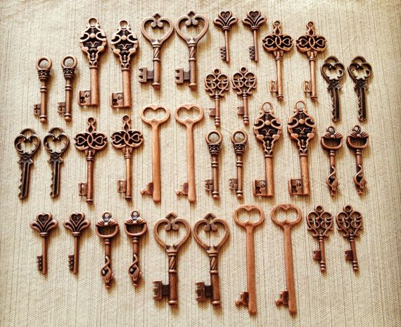 100 Keys to the Kingdom 100 Antique Copper by kismetologie