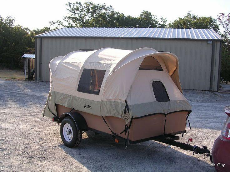 Truck Tent on cargo trailer.