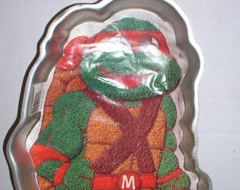 Teenage Mutant Ninja Turtles Cake Pan TMNT - 1989 Wilton Licensed by Surge - Long Retired - Never Used.