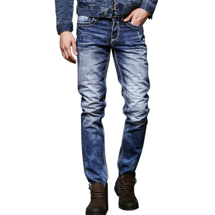 34.02$  Buy here - http://alion2.shopchina.info/1/go.php?t=32803466498 - Free Shipping Slim Fit Straight Leg Trousers Men Jeans pantalones vaqueros hombre 151084  #magazineonlinewebsite