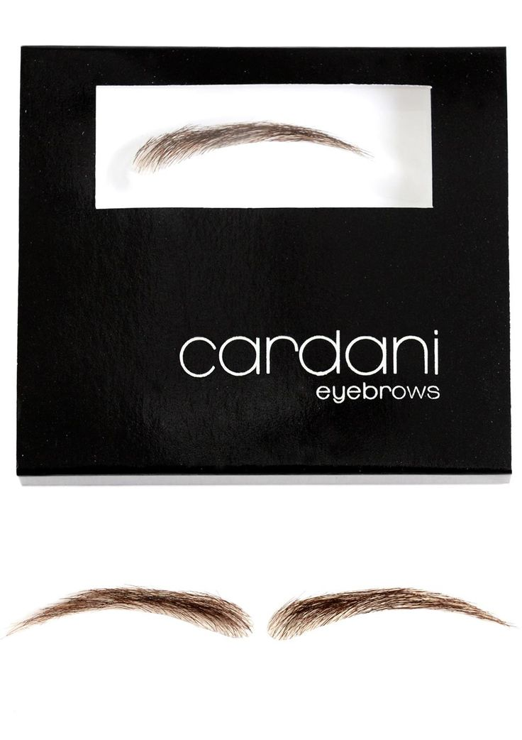 Cardani Realistic Human Hair Eyebrows #12 - Stick On Eyebrow Wig. These fake eyebrows are so realistic.