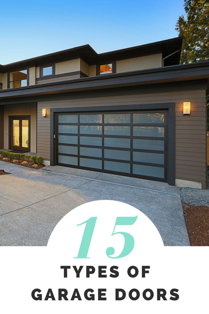 15 Types Of Garage Doors 10 And Openers 5 Buying Guide Garage Door Styles Contemporary Garage Doors Modern Garage Doors