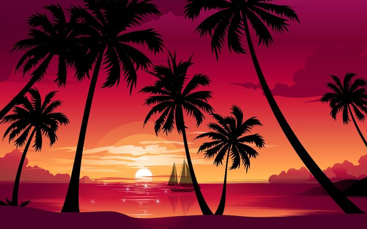 palm tree wallpaper - Background hd by Lester Ross (2016-02-27)