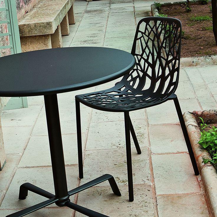Table en aluminium FAST et chaise Forest