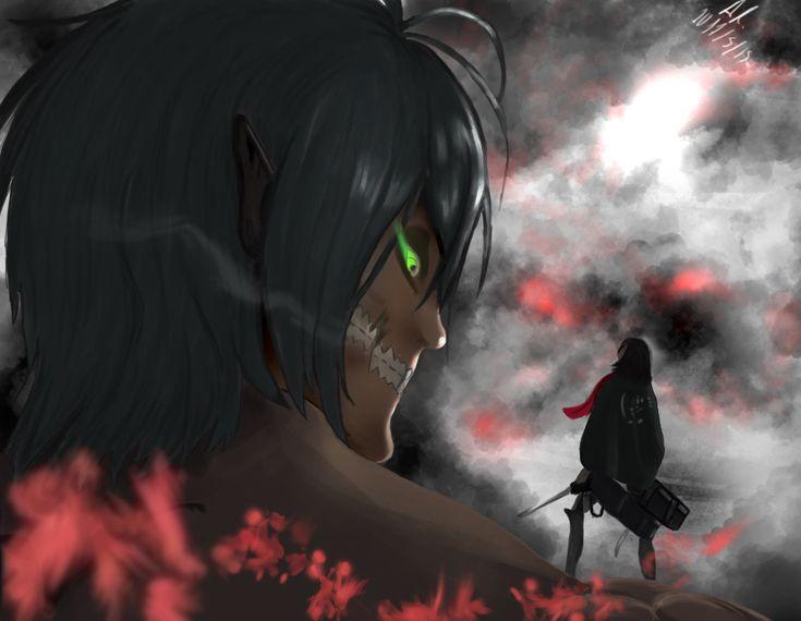 Eren And Mikasa by AnaisMononoke.deviantart.com on @DeviantArt