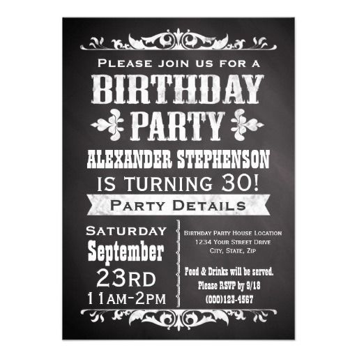 Vintage Slate Chalkboard Birthday Party Invitation Yes I can say you are on right site we just collected best shopping store that haveDeals          	Vintage Slate Chalkboard Birthday Party Invitation lowest price Fast Shipping and save your money Now!!...
