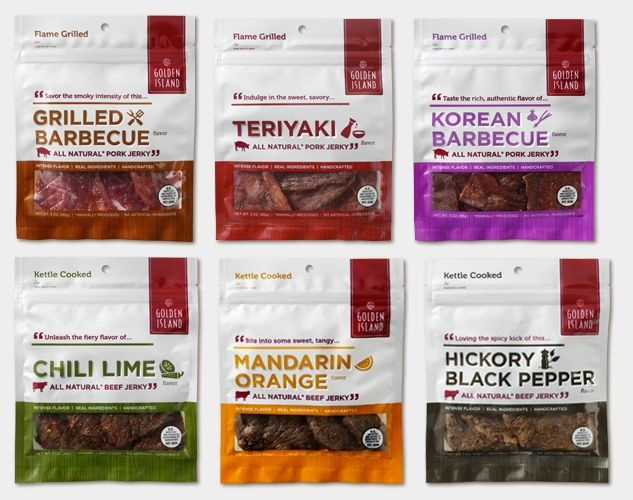 unique flavours from golden island jerky.