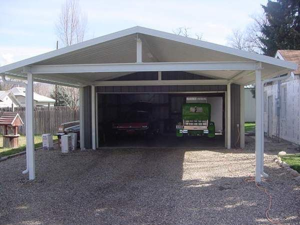 13 best metal garage carport images on pinterest pole for Garage column wrap