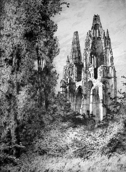 Saint-Jean-des-Vignes après 14-18 (4è état de destruction)