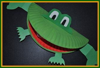 Let us show you how to turn a paper plate into a frog!