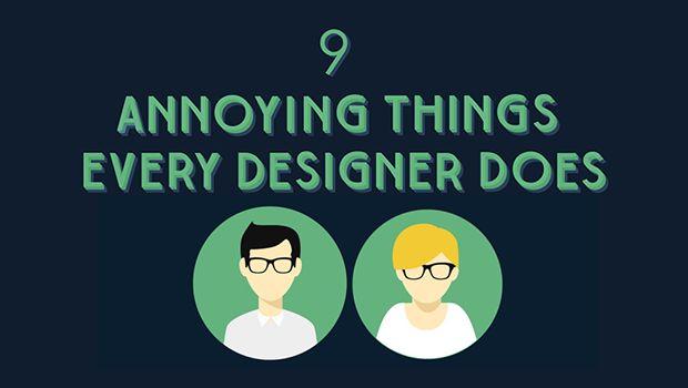 9 cosas molestas que hacen los diseñadores gráficos [infografía]