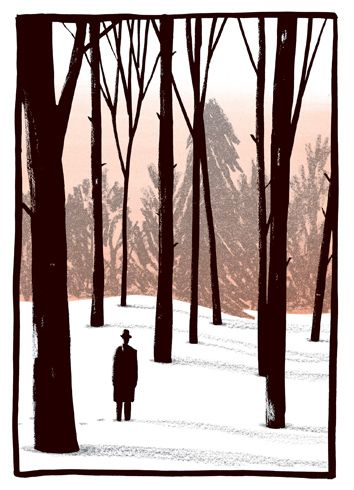Illustration by Bill Bragg from the Folio Society edition of Metamorphosis