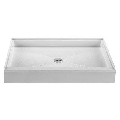 """Reliance Whirlpools Single Threshold Shower Base Finish: Biscuit, Size: 4"""" H x 47.75"""" W x 47.75"""" D"""
