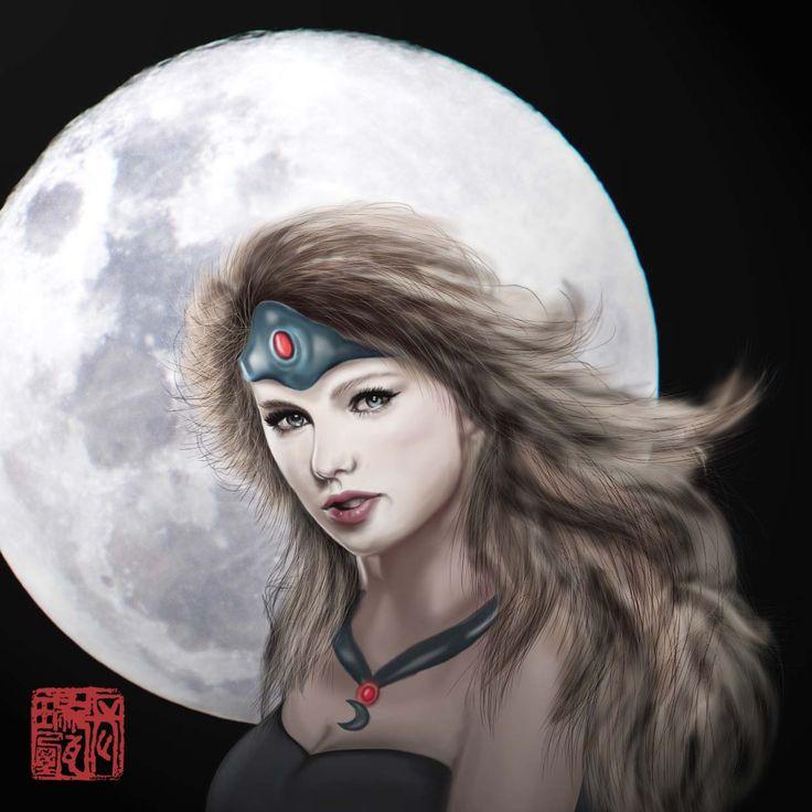 #taylorswift #digitalpainting #mirana #dota2 cause i think taylor will look great to cosplay mirana from dota2