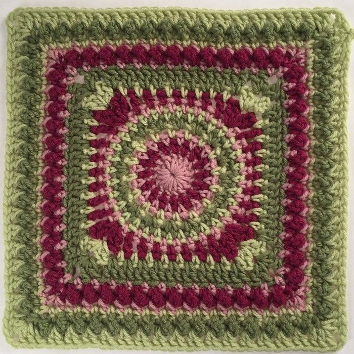 Crochet Andrea 12″ Square by Pink Mambo