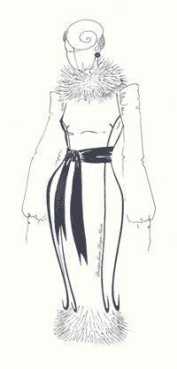 Перевод выточки в рельеф (Выкройки своими руками) В изделиях, прилегающего силуэта линию рельефа обычно проводят через высшую точку груди (на полочке) и лопаток (на спинке).