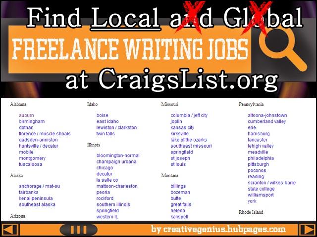 craigslist writing jobs