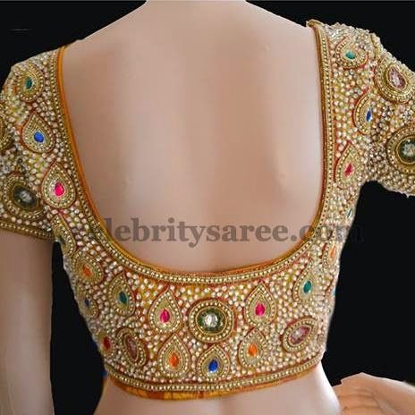Pear Shaped Stone Work Blouses