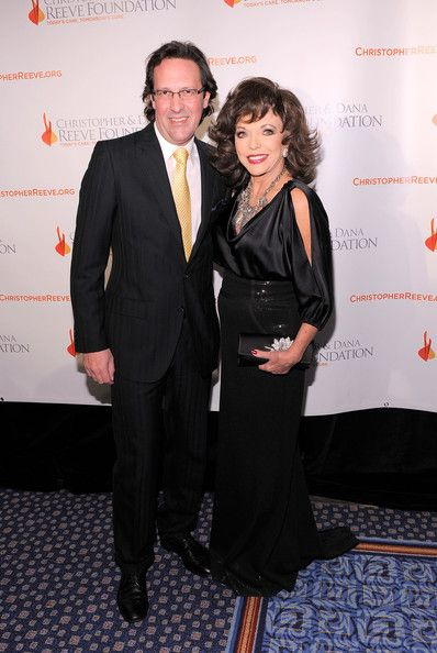 Joan Collins and Percy Gibson Photos: Christopher & Dana Reeve Foundation's A Magical Evening 20th Anniversary Gala Wednesday, November 17, 2010 New York Marriott Marquis - Red Carpet