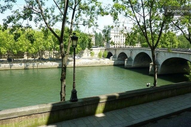 Seine view, Ile St Louis Notre Dame in Paris