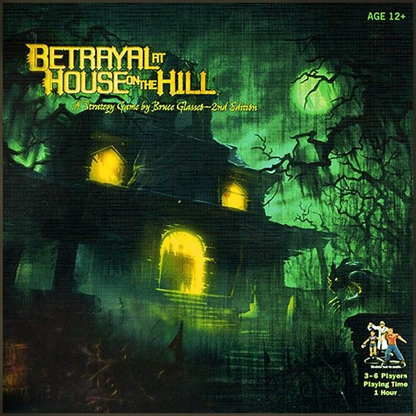 This a reprint of the popular board game Betrayal at the House on the Hill where players build a household of terror tile by tile.    Betrayal at the House on the Hill is never the same game twice. As one of the twelve mysterious characters, you'll explore a house filled with deadly secrets. As you play, you\'ll build the house. But beware! One of your fellow players will betray you. The traitor will test your sanity as you use all your skills to survive.
