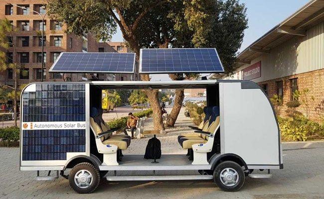 Students Design Driverless Bus That Runs On Solar Power Cost Rs 15 Lakh Solar Power Cost Solar Power Solar