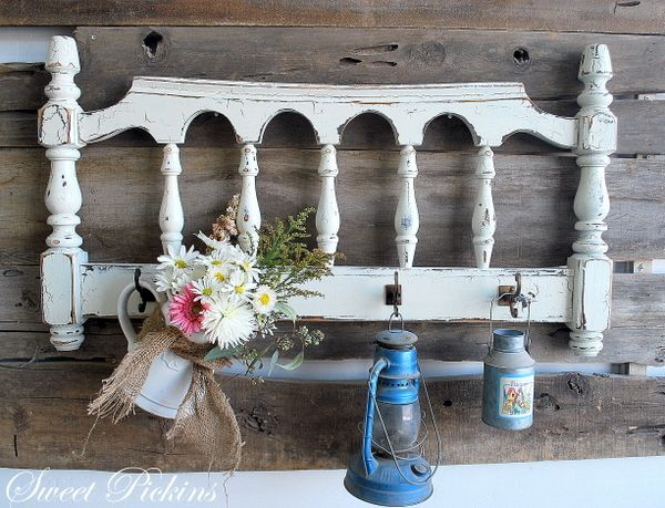 Headboard to the Garden http://www.sweetpickinsfurniture.com/2012/06/before-after-repurposed-headboards.html #head #board #headboard #repurpose #garden #decor #outdoor #spaces