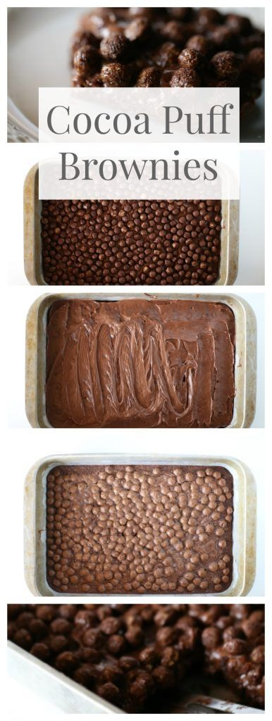 Cocoa Puffs Brownies - The Taylor House
