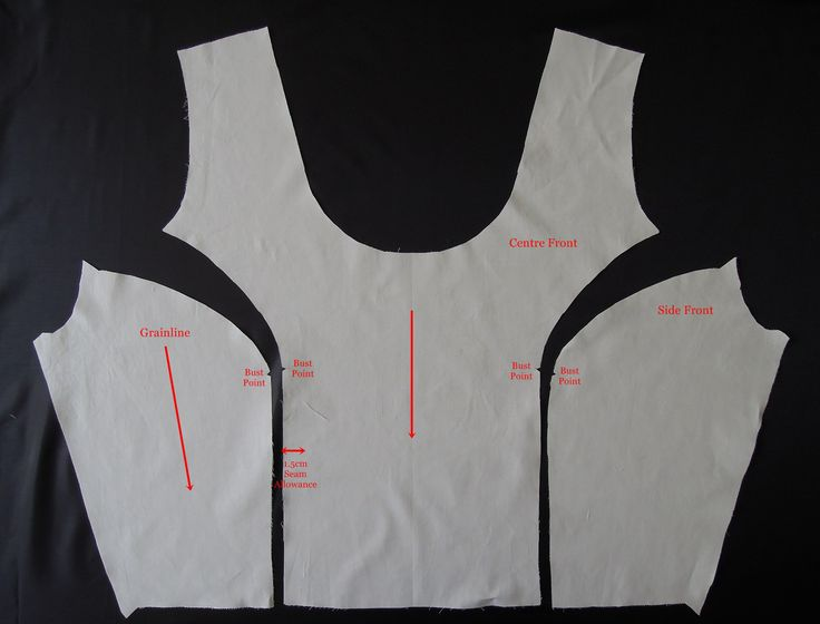 Princess Bodice Front