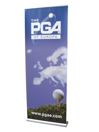 PGA banner. Nice idea to use the clouds as a map.