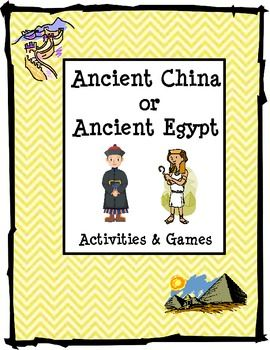 Ancient China or Ancient Egypt Activities and Games