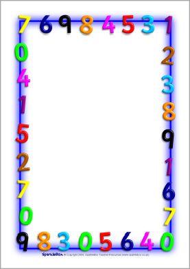 mathsthemed a4 page borders sb1210 sparklebox