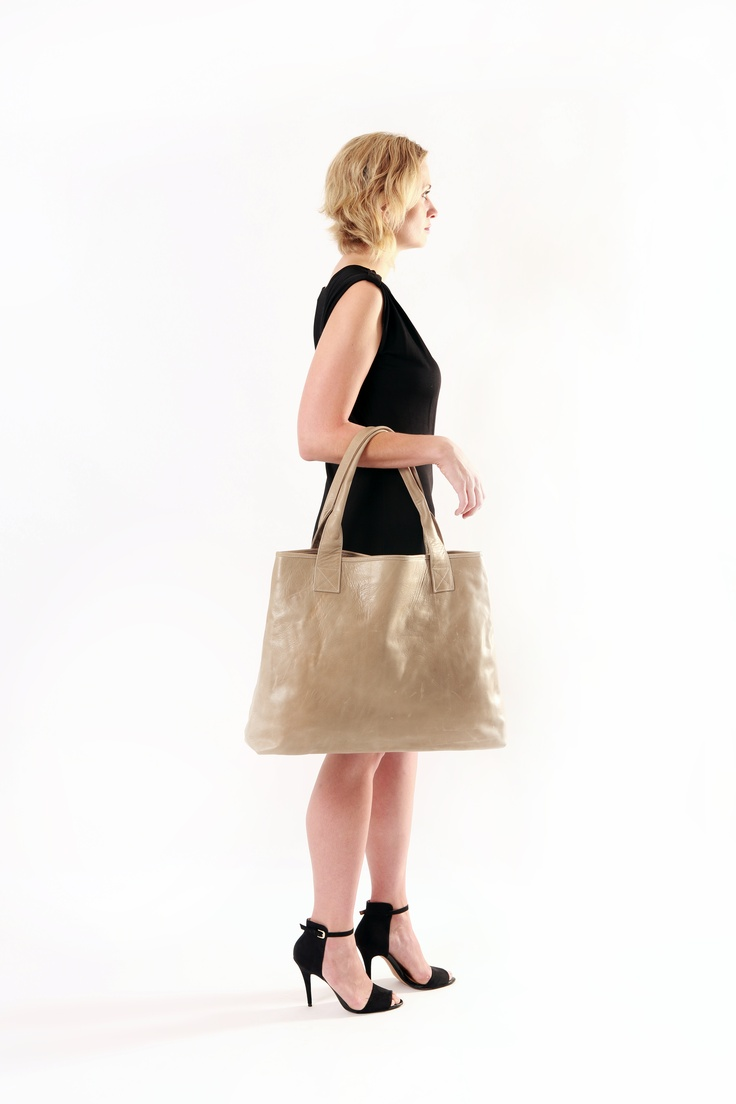 Leather Handbag. Apostrophe' studios 'Parcel' in the gorgeous favourite winter grey