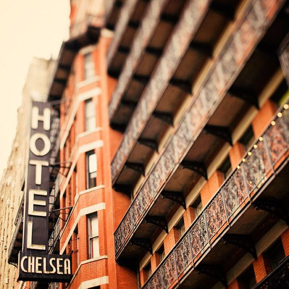 New York Photograph Chelsea Hotel in NYC by EyePoetryPhotography (Art & Collectibles, Photography, Color, Nyc, Orange, Black, Saffron, Rock And Roll, New York Photo, Chelsea Hotel, Persimmon, Pumpkin, Autumn, Celosia Orange, 8x8)