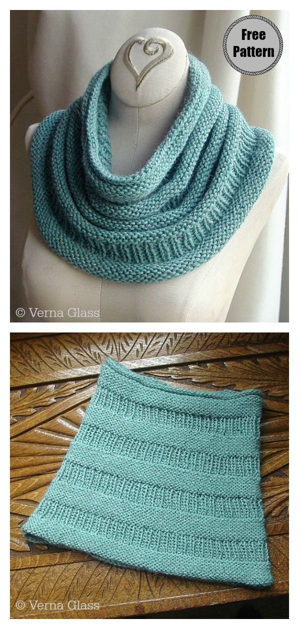 Simple Cowl Free Knitting Pattern