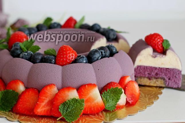 Фото Муссовый торт с черникой и велюром