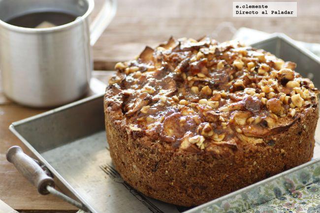 Directo al Paladar - Cake de manzana con crujiente de avellanas