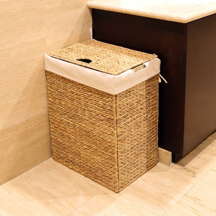 Foldable Wicker Laundry Hamper