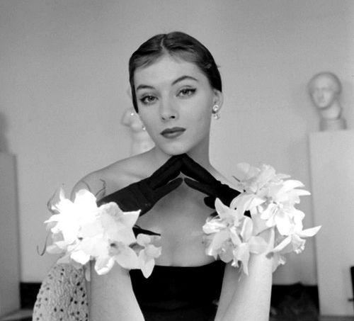 Vikki Dougan in life magazine, 1951. I want those gloves so badly