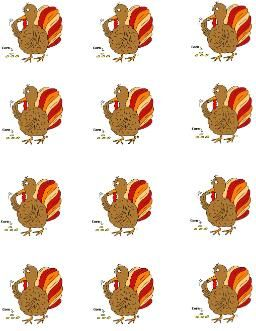 Lots of Thanksgiving Turkey Templates to print out and use for whatever you need.