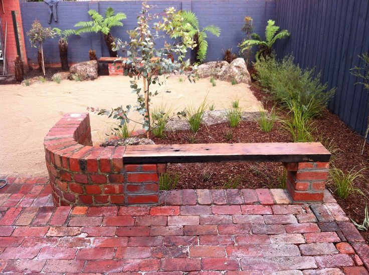 Brick Paving With Timber Bench Seat Ideas Pinterest