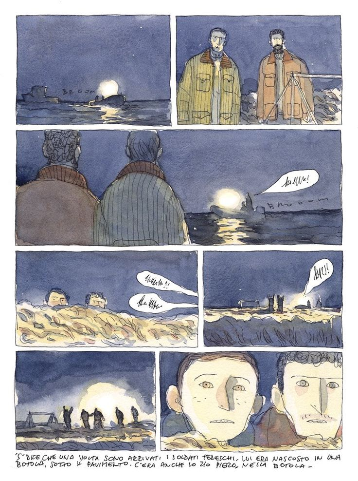 nice loose watercolor style graphic novel.  ~Gipi