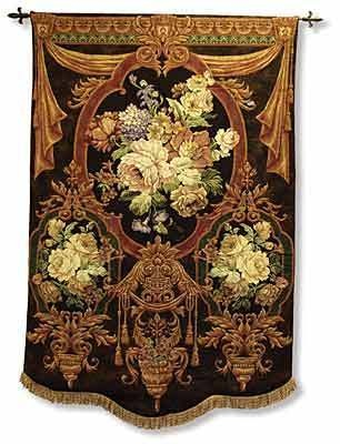I've dreamed for years of making a large bag from the floral areas of this tapestry...