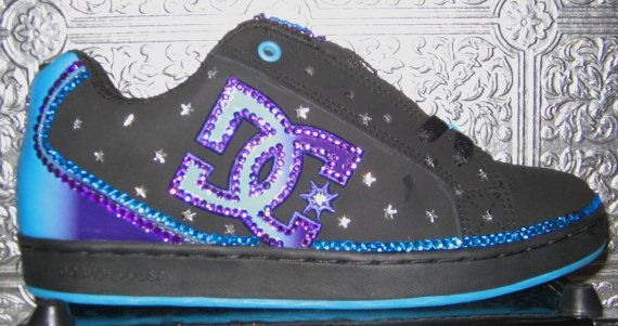 DC womens shoes with rhinestones and stars by STEAMHATTER on Etsy, $85