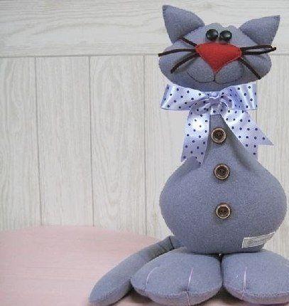 Забавный кот, выкройка - Игрушки