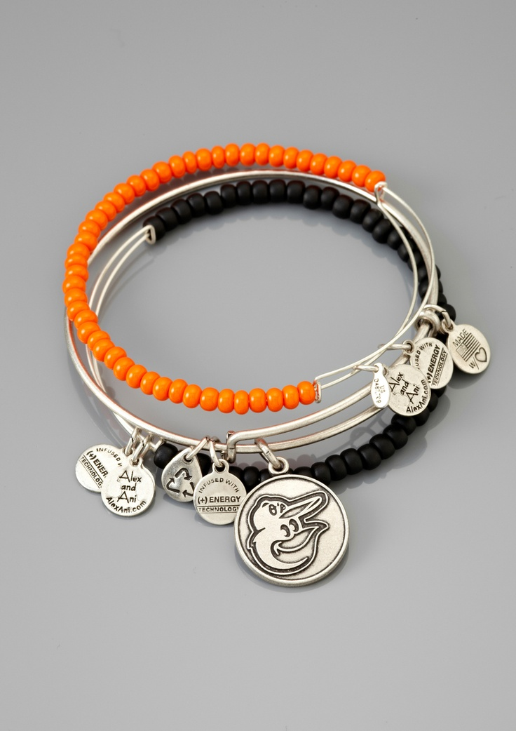 Alex & Ani Baltimore Orioles Bracelets....want these.