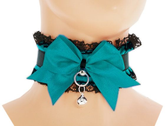 Black satin lace Day Collar kawaii Collar by FashionForWomen