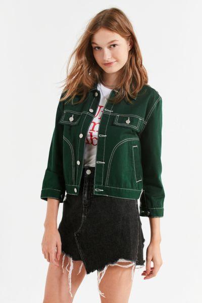 2c233d255c UNIF Woody Green Denim Jacket