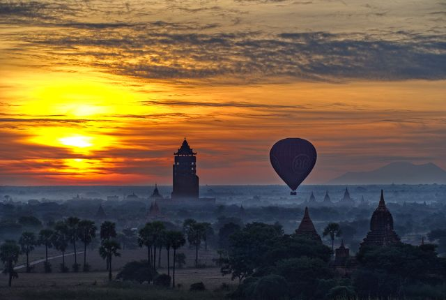 Daybreak Ascent | Balloons Over Bagan in Myanmar