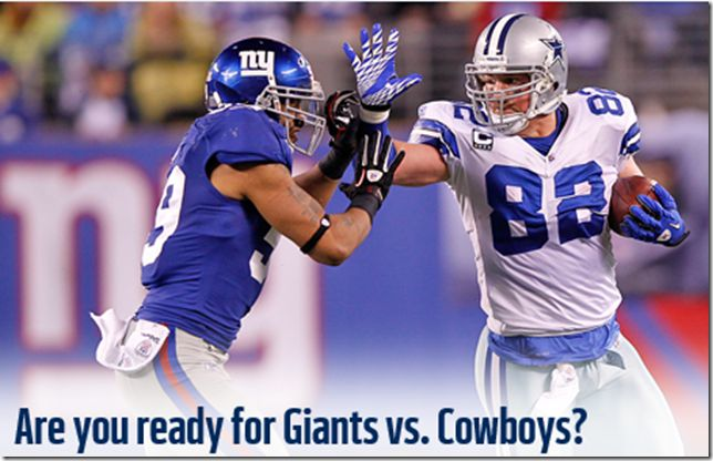 dallas cowboys vs giants | ... the New York Giants' defensive linemen is like walking into a game